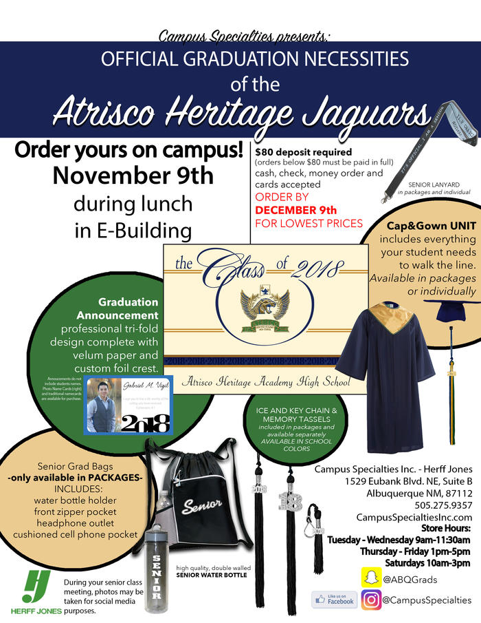 Official graduation necessities of Atrisco Heritage Academy HS
